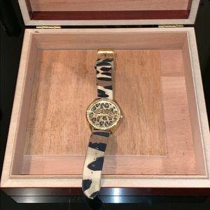 Guess leopard print watch